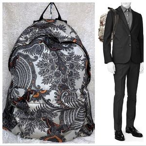 Givenchy backpack grey/black canvas & BLK leather